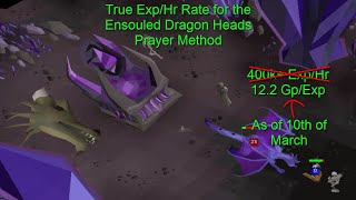 Testing Ensouled Dragon Heads True Exp/Hr 330k+ Prayer Exp Oldschool Runescape