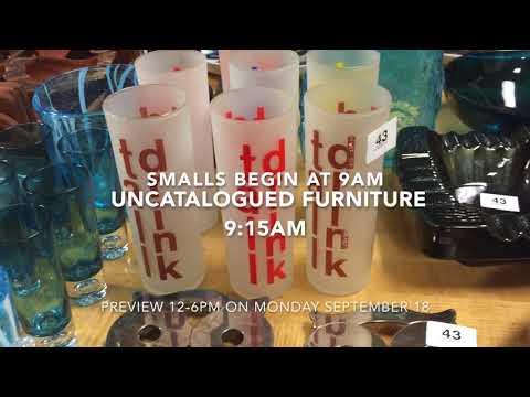September 19, 2017 Modern Design Auction Uncatalogued items