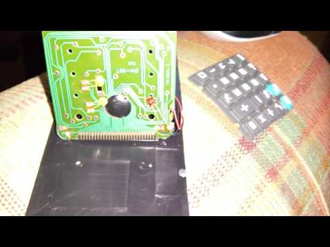 Cheap calculator using an LED as a diode for solar panel