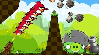 Angry Birds Collection 1 - SHOOT ALL BIRDS TO BOSS PIG WHILE HE THROWING STONE!
