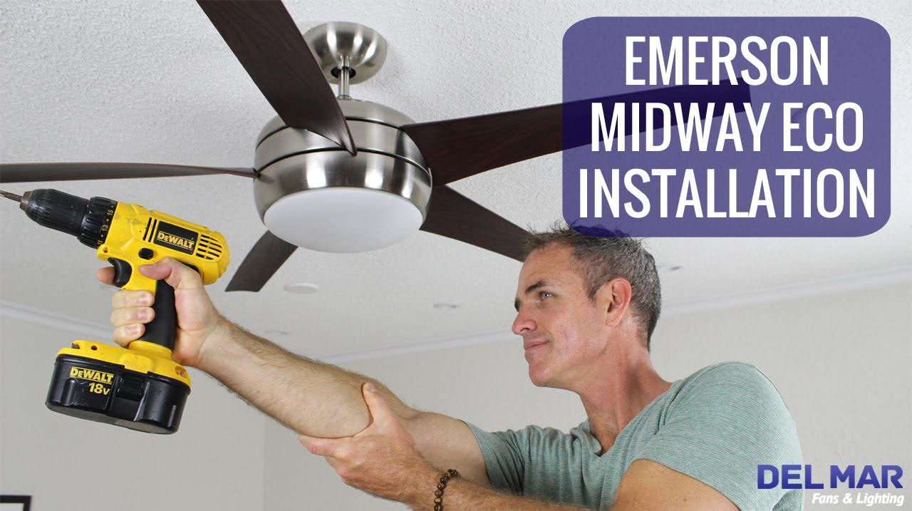 Emerson midway eco ceiling fan installation youtube aloadofball Gallery