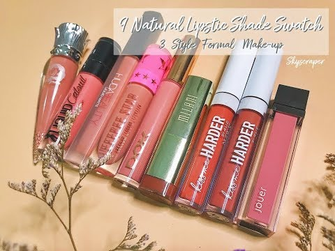 Swatch 9 Natural , Formal  Lipstic Shade l...