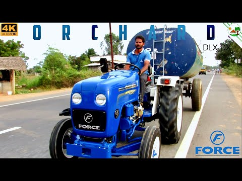FORCE Orchard OX 25 Tractor with Water Tank Trailer | New Tr