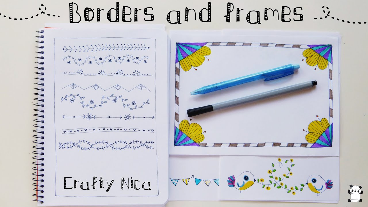 BORDERS AND FRAMES DESIGNS Borders for cards school projects  planner decoration ideas  YouTube