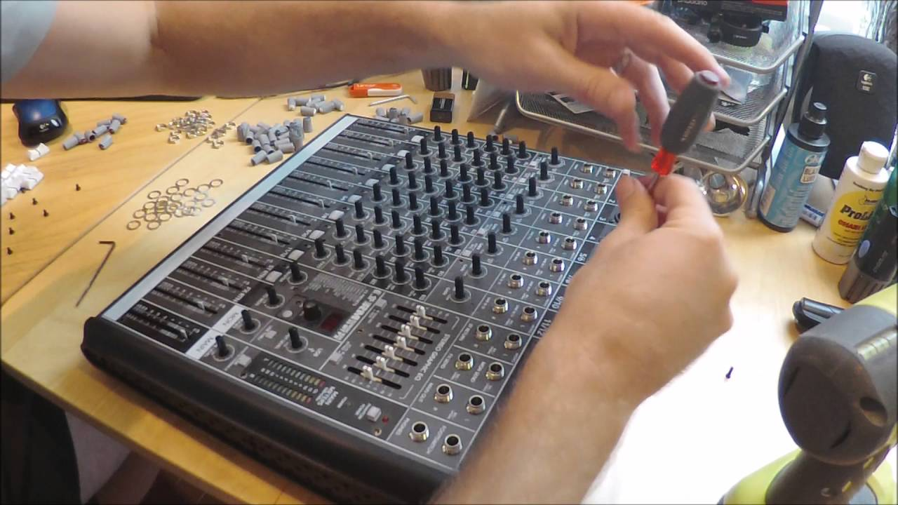 cleaning scratchy pots and faders mackie profx12 mixer youtubecleaning scratchy pots and faders mackie profx12 mixer