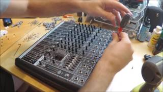 Cleaning Scratchy Pots and Faders Mackie ProFX12 Mixer