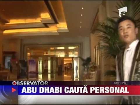 Un hotel de patru stele din Abu Dhab vrea sa angajeze 70 de romani 14 IULIE 2011