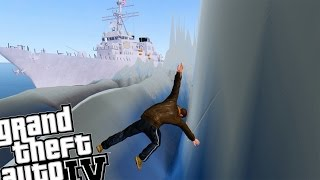 GTA IV - US Navy Destroyer vs HUGE TSUNAMI!!