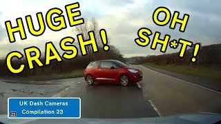 UK Dash Cameras - Compilation 23 - 2018 Bad Drivers, Crashes + Close Calls