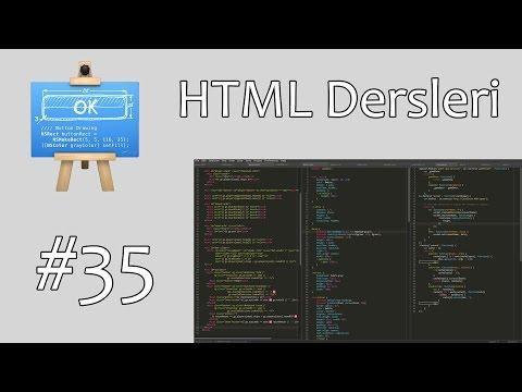 35) HTML Dersleri - label, fieldset ve legend Etiketleri