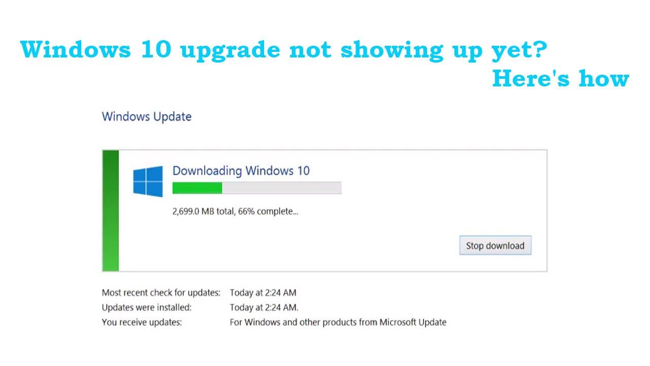 download windows 10 free upgrade now