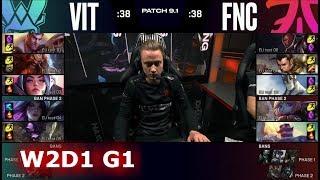 Vitality vs Fnatic   Week 2 Day 1 of S9 LEC Spring 2019 (ex-EULCS)   VIT vs FNC W2D1