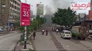 تجارة التهريب .. تفجر مواجهات مسلحة بين مليشيات الاخوان بمدينة تعز