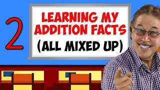 Learning My Addition Facts (All Mixed Up) | Addition Facts for 2 | Jack Hartmann