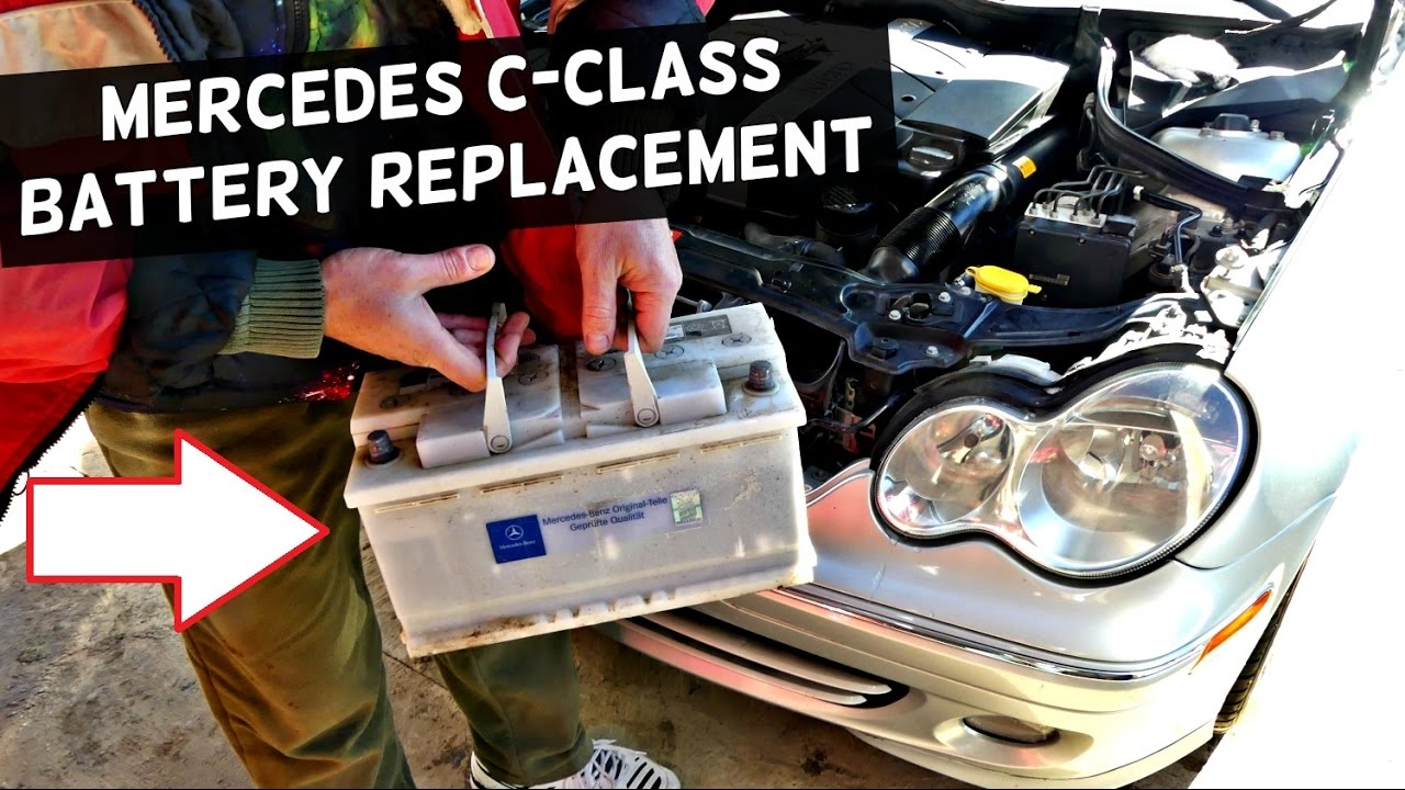 mercedes w203 battery replacement c180 c200 c230 c240 c260
