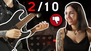 Girlfriend Reviews My GUITAR LICKS! (She Gave Me A 2/10...)