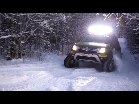 Renault DUSTER как танк по снегу