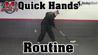 Quick Hands Stickhandling Routine