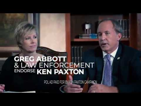 Greg Abbott and Law Enforcement Endorse Ken Paxton for Attorney General