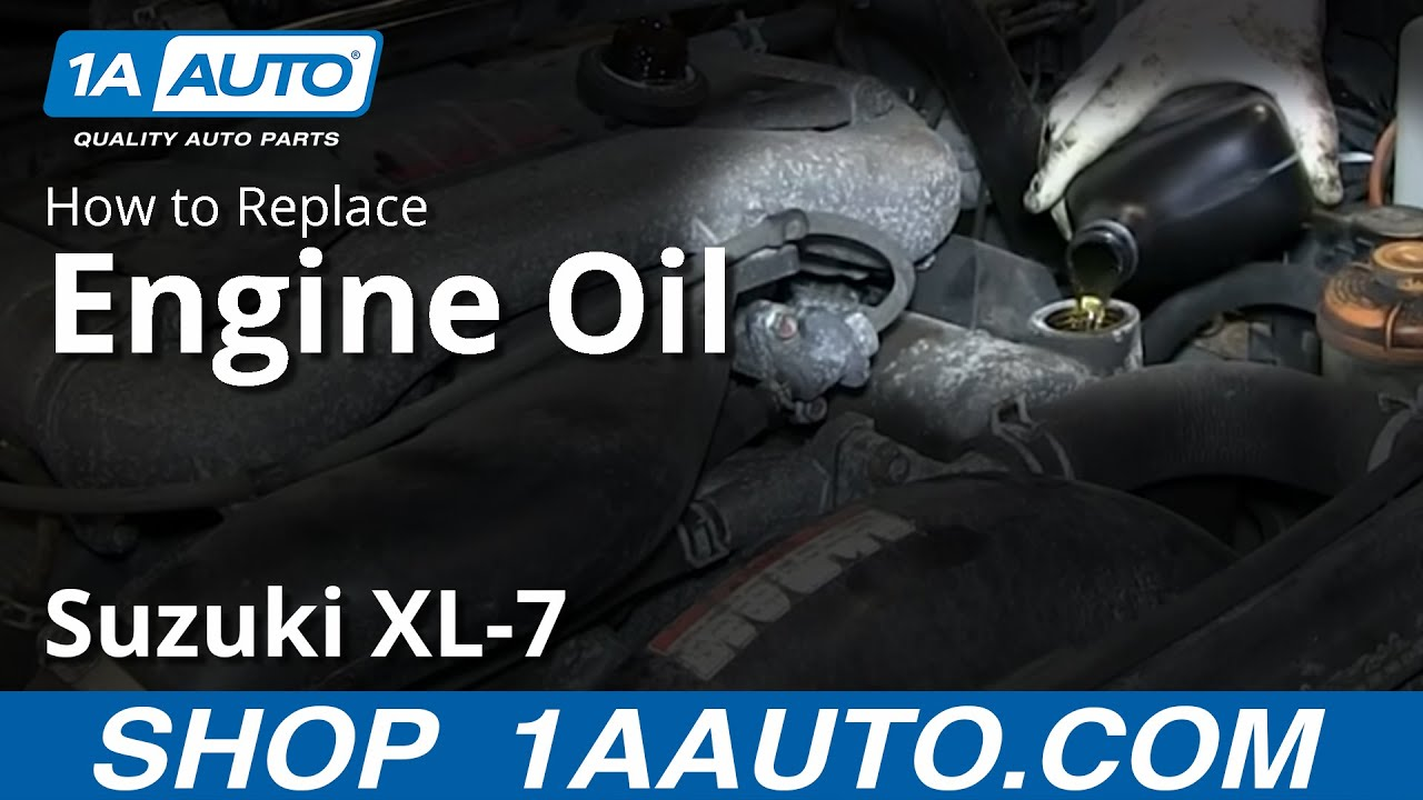 How To Service Do An Engine Oil Change Suzuki Xl 7 Youtube