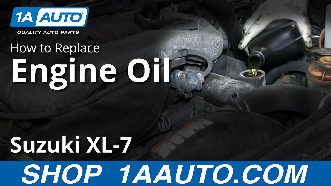 2003 Suzuki Xl7 Service Engine Soon Light 2006 Grand Vitara Fuse Box How To Do An Oil Change Xl 7 You
