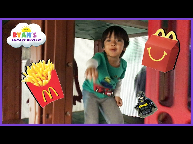 McDonald's Indoor Playground for Kids Happy Meal Lego Batman Surprise Toy Hunt Valentine Day