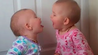 Funny Twins Baby Playing Together 🥕🥕 Cute Baby Video