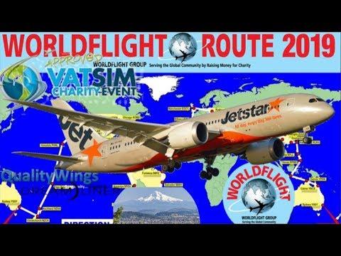 QualityWings 787 On Vatsim Worldflight Pago Pago To Portland Via Honululu