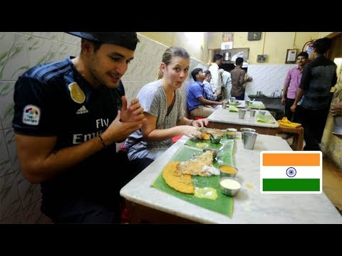 Foreigners react to UNIQUE SOUTHERN INDIAN FOOD   First time in CHENNAI