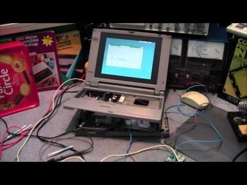 Dead 1995 Toshiba Laptop Repair & Cleanup ( 410CDT Satellite Pro )