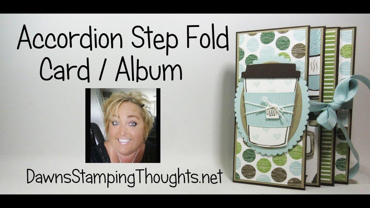 accordion step fold card album youtube