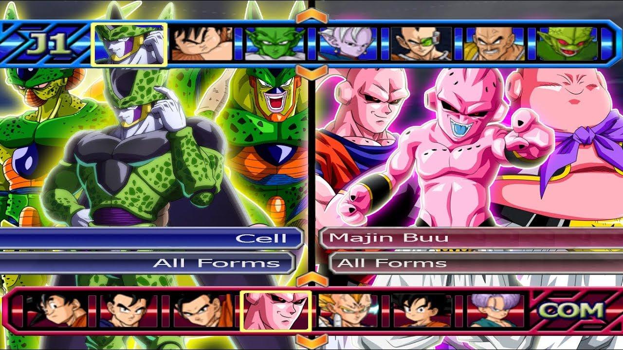 majin buu all forms vs cell all forms dragon ball z budokai
