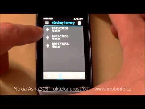 Nokia Asha 308 - prostředí Series40 - Mobinfo.cz