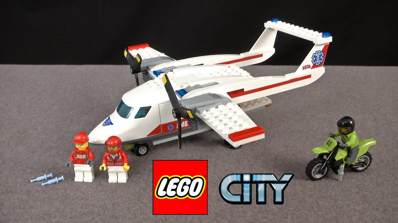 Lego city ambulance plane from lego youtube - Lego ambulance ...