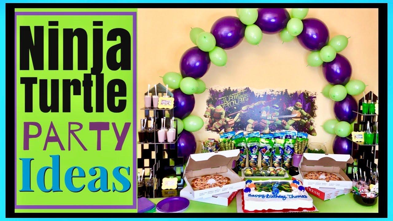 Ninja Turtle Birthday Party Ideas Make A Balloon Arch No Helium