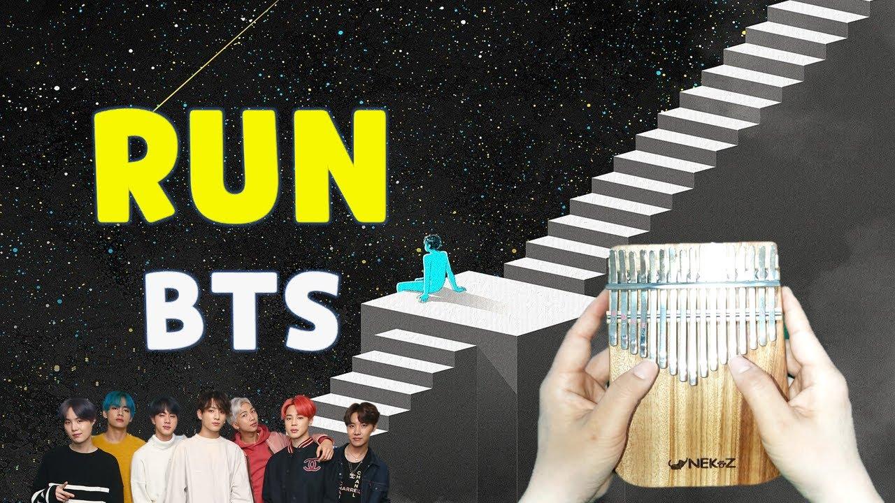 Run BTS kalimba music sheet number tabs - YouTube