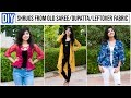 3 Types Of Shrug From Old Dupattas/Sarees/Leftover Fabric In Just 10 Minutes|Reuse old Saree/Dupatta