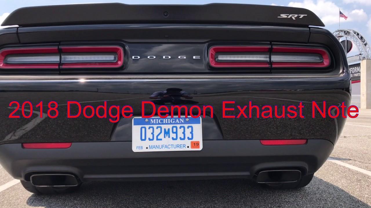 2018 Dodge Challenger Srt Demon Youtube