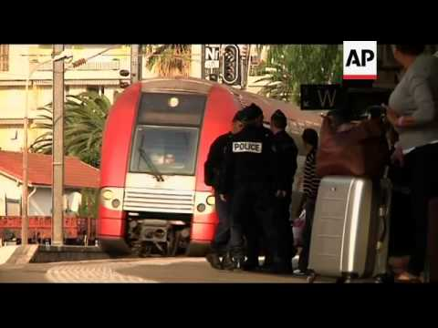 Border police patrolling Franco/Italian border