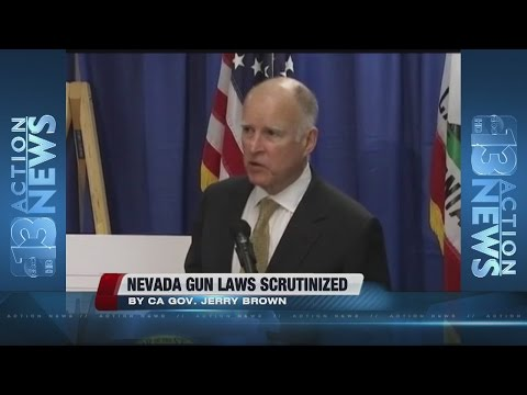 California governor scrutinizes Nevada gun laws after San Bernardino shooting