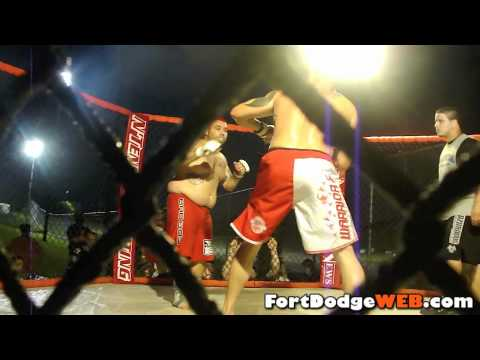 Jesse Wilson Wins (Fight #16) 2010 MMA Event at Mineral City Speedway in Fort Dodge