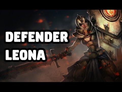 DEFENDER LEONA SKIN SPOTLIGHT - LEAGUE OF LEGENDS