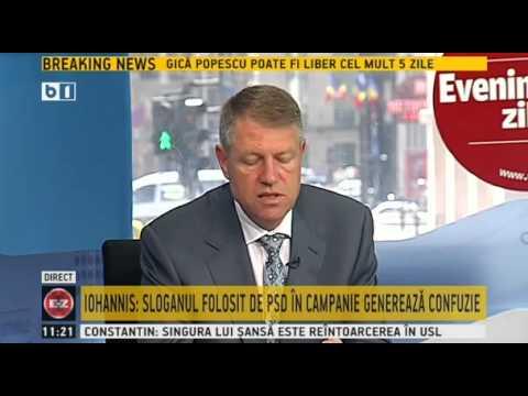 """Klaus Iohannis, la """"Evenimentul Zilei"""" - emisiune integrala - 13 mai 2014"""