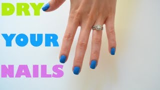 4 Ways To Dry Your Nail Polish Faster!