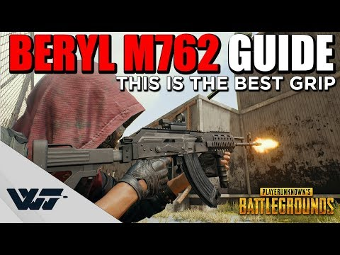 GUIDE: BERYL M762 The best grip + Recoil comparison with other AR's -PUBG