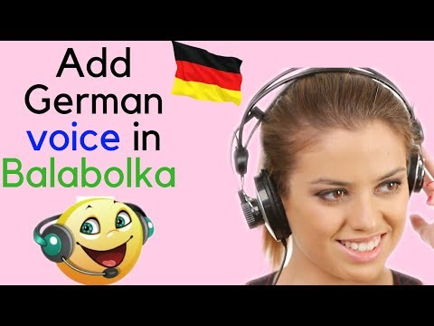 How to add German voice in Balabolka text to speech software