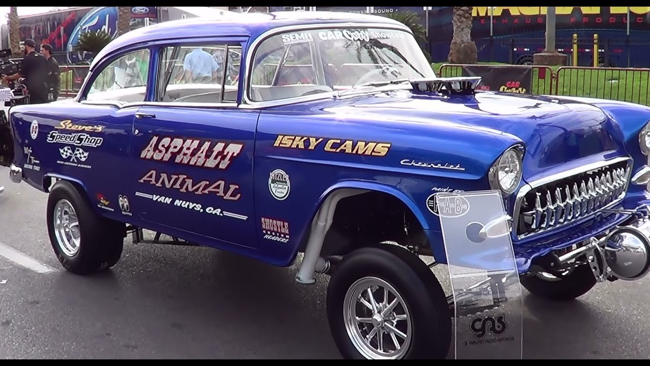 "1955 Chevy Gasser ""Asphalt Animal"" SEMA 2013 - YouTube"