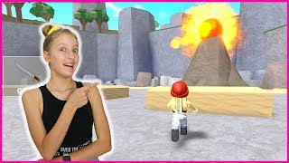 Escaping the Volcano on My Island!
