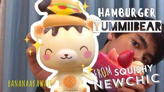 SQUISHY YUMMIIBEAR BURGER!! SQUISHY REVIEW TỪ NEWCHIC, SQUISHY CHẤT LƯỢNG TỪ SINGAPORE