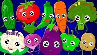 Ten In The Bed Vegetables | Vegetables Song | Learn vegetables | Nursery Rhymes
